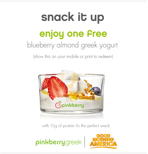 FREE blueberry almond greek yo...